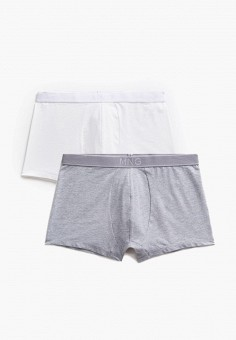 Комплект, Mango Man, цвет: белый, серый. Артикул: HE002EMKLHB8. Одежда / Нижнее белье