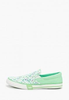 Слипоны, Helly Hansen, цвет: зеленый. Артикул: HE012AWELQR8. Обувь / Слипоны