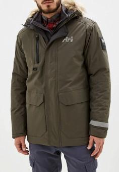 Куртка утепленная, Helly Hansen, цвет: хаки. Артикул: HE012EMFQZP0. Одежда / Верхняя одежда / Пуховики и зимние куртки
