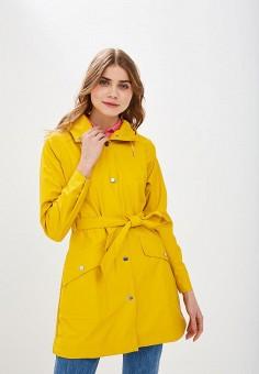 Плащ, Helly Hansen, цвет: желтый. Артикул: HE012EWELRA8. Одежда / Верхняя одежда / Плащи и тренчи