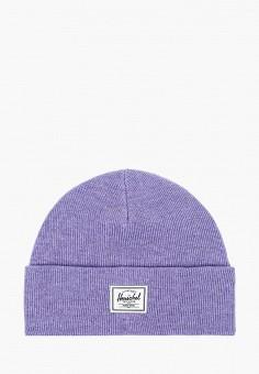 Шапка, Herschel Supply Co, цвет: фиолетовый. Артикул: HE013CUJMQA2. Аксессуары / Головные уборы / Шапки