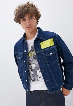 Куртка джинсовая, Helmut Lang, цвет: синий. Артикул: HE025EMJRNG1. Одежда / Верхняя одежда / Джинсовые куртки