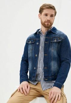 Куртка джинсовая, Hopenlife, цвет: синий. Артикул: HO012EMJCDJ6. Одежда / Верхняя одежда / Джинсовые куртки