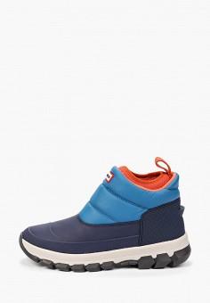 Дутики, Hunter, цвет: синий. Артикул: HU028AMGNKT4. Обувь / Сапоги  / Дутики и луноходы