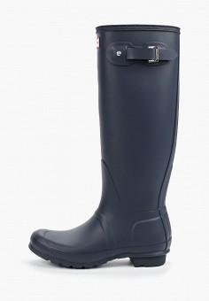 Резиновые сапоги, Hunter, цвет: синий. Артикул: HU028AWFVPG1. Обувь / Резиновая обувь
