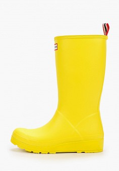 Резиновые сапоги, Hunter, цвет: желтый. Артикул: HU028AWIEAK2. Обувь / Резиновая обувь