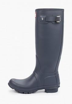 Резиновые сапоги, Hunter, цвет: синий. Артикул: HU028AWIENU3. Обувь / Резиновая обувь