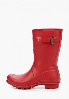 Резиновые сапоги, Hunter, цвет: красный. Артикул: HU028AWJZXS8. Обувь / Резиновая обувь