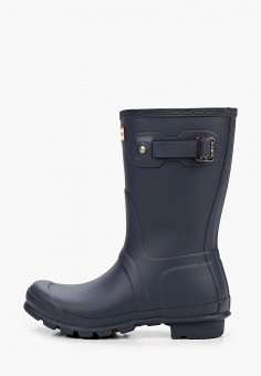 Резиновые сапоги, Hunter, цвет: синий. Артикул: HU028AWJZXS9. Обувь / Резиновая обувь