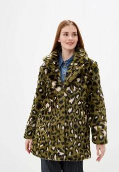 Шуба, Ichi, цвет: зеленый. Артикул: IC314EWFUJG4. Одежда / Верхняя одежда / Шубы и дубленки