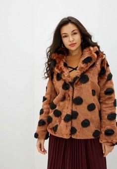 Шуба, Ichi, цвет: коричневый. Артикул: IC314EWFUJI3. Одежда / Верхняя одежда / Шубы и дубленки