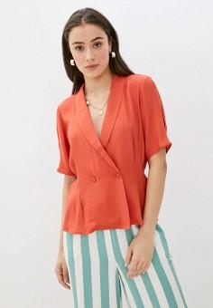 Блуза, Ichi, цвет: коралловый. Артикул: IC314EWHRRU5. Одежда / Блузы и рубашки / Блузы