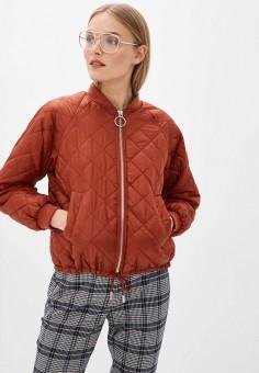 Куртка утепленная, Ichi, цвет: коричневый. Артикул: IC314EWHRTM7. Одежда / Верхняя одежда / Демисезонные куртки
