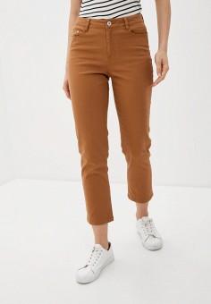 Брюки, Ichi, цвет: коричневый. Артикул: IC314EWHRTV7. Одежда / Брюки