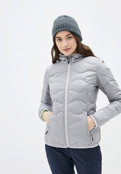 Пуховик, Icepeak, цвет: серый. Артикул: IC647EWIPSG3. Одежда / Верхняя одежда / Пуховики и зимние куртки / Пуховики