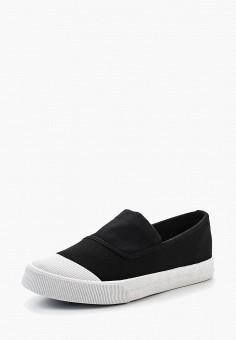 Слипоны, Ideal Shoes, цвет: черный. Артикул: ID005AWSBE39. Обувь / Слипоны