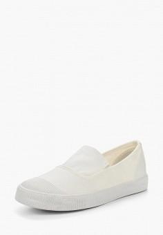 Слипоны, Ideal Shoes, цвет: белый. Артикул: ID005AWSBE93. Обувь / Слипоны