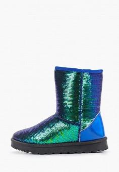 Полусапоги, Ideal Shoes, цвет: синий. Артикул: ID007AWGPBM4. Обувь / Сапоги / Полусапоги