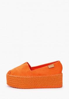 Эспадрильи, Ideal Shoes, цвет: оранжевый. Артикул: ID007AWIEEI5. Обувь / Эспадрильи