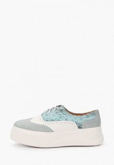 Ботинки, Ideal Shoes, цвет: бирюзовый. Артикул: ID007AWIEEM5. Обувь / Ботинки / Низкие ботинки