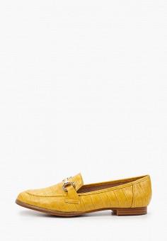 Лоферы, Ideal Shoes, цвет: желтый. Артикул: ID007AWIXMX3. Обувь / Туфли / Лоферы