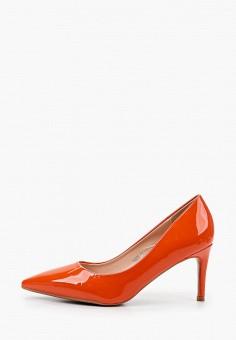 Туфли, Ideal Shoes, цвет: оранжевый. Артикул: ID007AWIXNB7. Обувь / Туфли / Лодочки