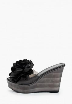 Сабо, Ideal Shoes, цвет: черный. Артикул: ID007AWJCOM0. Обувь / Сабо и мюли