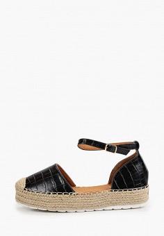 Эспадрильи, Ideal Shoes, цвет: черный. Артикул: ID007AWJDKD2. Обувь / Эспадрильи