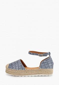 Эспадрильи, Ideal Shoes, цвет: синий. Артикул: ID007AWJDKD5. Обувь / Эспадрильи