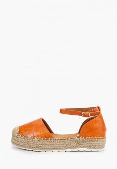 Эспадрильи, Ideal Shoes, цвет: оранжевый. Артикул: ID007AWJDKD6. Обувь / Эспадрильи