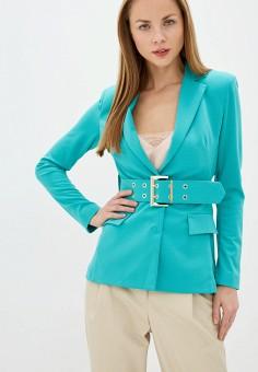 Жакет, Imperial, цвет: бирюзовый. Артикул: IM004EWIWAD6. Одежда / Пиджаки и костюмы