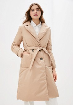 Куртка утепленная, Imocean, цвет: бежевый. Артикул: IM007EWIPNY1. Одежда / Верхняя одежда / Демисезонные куртки