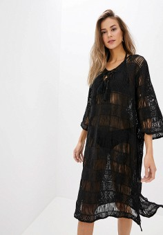 Туника пляжная, Indiano Natural, цвет: черный. Артикул: IN012EWHQJB7. Одежда / Купальники и пляжная одежда