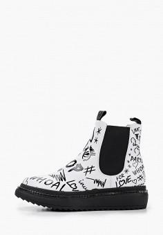 Ботинки, Inuovo, цвет: белый. Артикул: IN018AWKCJP1. Обувь / Ботинки / Челси