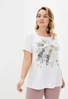 Блуза, Intikoma, цвет: белый. Артикул: IN023EWIONJ6. Одежда / Одежда больших размеров