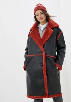 Дубленка, Ivyrevel, цвет: черный. Артикул: IV006EWFYSZ6. Одежда / Верхняя одежда / Шубы и дубленки