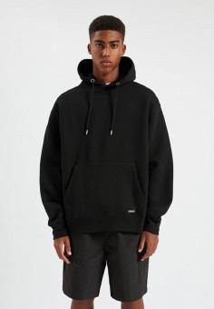 Худи, Pull&Bear, цвет: черный. Артикул: IX001XM0088Q. Одежда / Толстовки и олимпийки