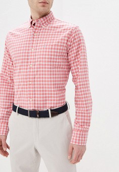 Рубашка, Izod, цвет: красный. Артикул: IZ003EMELBD3. Одежда / Рубашки / Рубашки с длинным рукавом