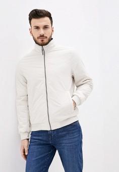 Куртка утепленная, Izod, цвет: бежевый. Артикул: IZ003EMHPBM4. Одежда / Верхняя одежда / Демисезонные куртки
