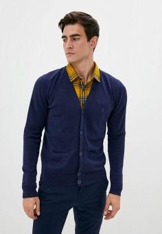 Кардиган, Izod, цвет: синий. Артикул: IZ003EMKFPX1. Одежда / Джемперы, свитеры и кардиганы / Кардиганы