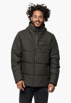 Куртка утепленная, Jack Wolfskin, цвет: хаки. Артикул: JA021EMGGCE6.