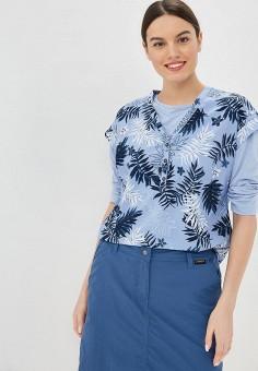 Блуза, Jack Wolfskin, цвет: голубой. Артикул: JA021EWDZMS2.
