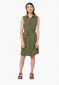 Платье, Jack Wolfskin, цвет: хаки. Артикул: JA021EWINKN4.