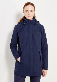Куртка утепленная, Jack Wolfskin, цвет: синий. Артикул: JA021EWWHZ02.