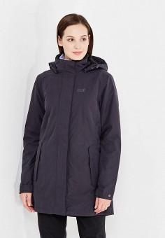 Куртка утепленная, Jack Wolfskin, цвет: черный. Артикул: JA021EWWHZ04.