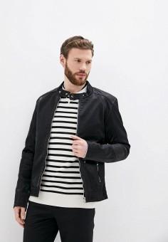 Куртка кожаная, Jackets Industry, цвет: синий. Артикул: JA036EMJIPO4. Одежда / Верхняя одежда / Кожаные куртки