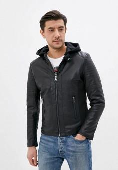 Куртка кожаная, Jackets Industry, цвет: черный. Артикул: JA036EMJIPP3. Одежда / Верхняя одежда / Кожаные куртки