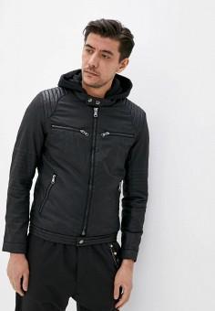 Куртка кожаная, Jackets Industry, цвет: черный. Артикул: JA036EMJJQS7. Одежда / Верхняя одежда / Кожаные куртки