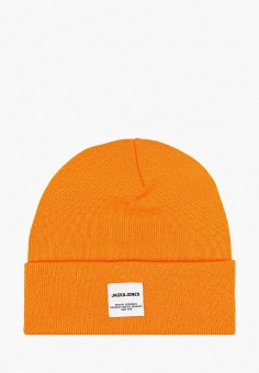 Шапка, Jack & Jones, цвет: оранжевый. Артикул: JA391CMFKDY4. Аксессуары / Головные уборы