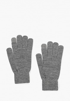Перчатки, Jack & Jones, цвет: серый. Артикул: JA391DMFKEB8. Аксессуары / Перчатки и варежки